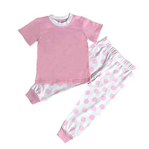 MONOBLANKS Easter Stripe Dot Pajamas Sets for Baby