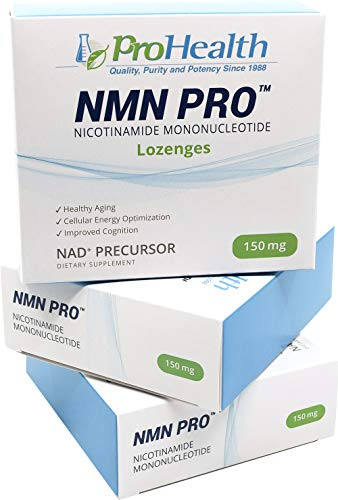 ProHealth ProHealth NMN Pro 3-Pack (150 mg, 60 lozenges per Box) Nicotinamide Mononucleotide | NAD+ Precursor | Supports Anti-Aging, Longevity and Energy | Non-GMO price tips cheap