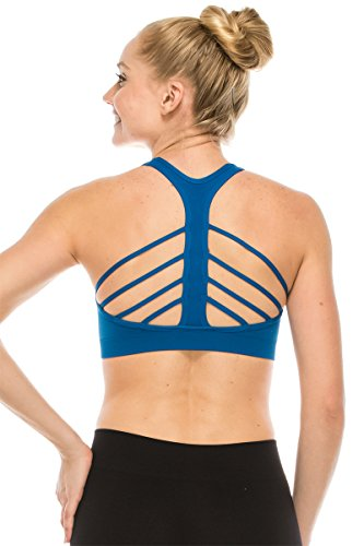 Kurve Women's Strappy Back Sports Bra -Made In USA- (One Size (XS-Med), Snorkel - Usa Made In Bra Sports