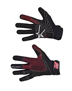 Jobe Progress Gloves Swathe black/red-L