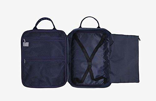 Unisex Taschen Nylon Reisetasche für Sport im Freien All Seasons Navy Blue Pale Blue Navy blue