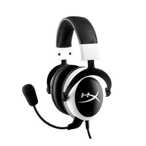 HyperX KHX-H3CLW Cloud Gaming Headset for PC, Xbox One, Xbox One S, PS4, PS4 Pro, Mac, Mobile and VR - White by HyperX