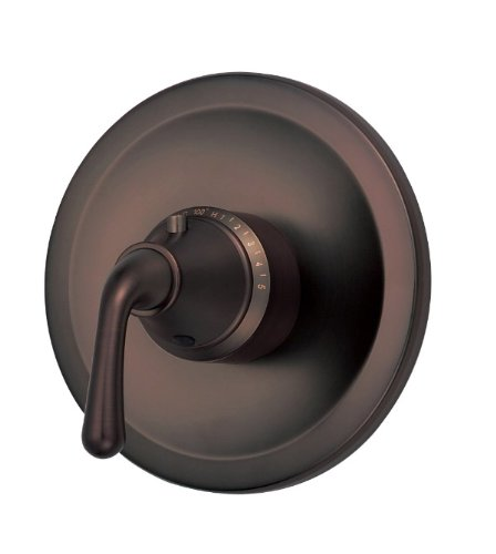 Rough Valve Included Handle (Danze D562056RBT Bannockburn Single Handle 3/4-Inch Thermostatic Shower Valve Trim Kit, Valve Not Included, Oil Rubbed Bronze)