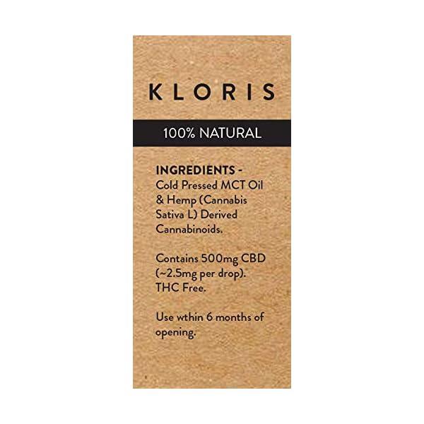 KLORIS 500mg (5%) CBD Oil Drops – 10ml