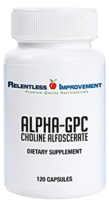 Relentless Improvement Alpha GPC 120 Capsules | NO FILLERS | NO SOY