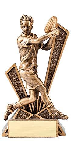 エクスプレスメダル (1-3-5パック) 6.5インチ チェックメイトシリーズ ボーイズ テニス トロフィー賞 刻印入り パーソナライズプレート B07H6W411Y  3