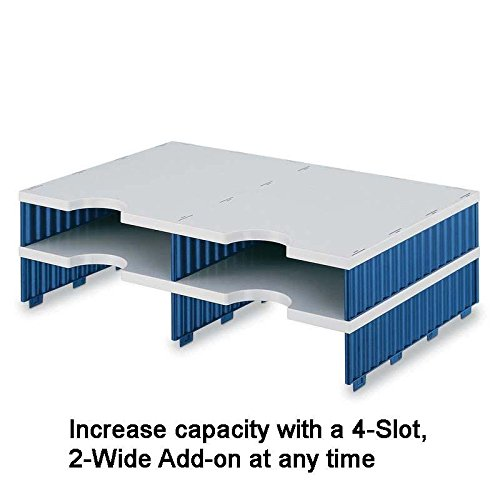 Ultimate Office 6-Slot Combination Sorter (4 Standard/2 High-Wall), Gray w/Black