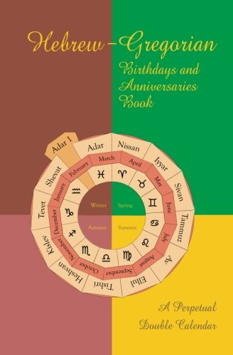 Hebrew-Gregorian Birthdays and Anniversaries Book: A perpetual double calendar ()