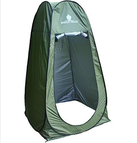 Holla Yella Extra Large Pop Up Privacy Tent - Tallest Available, Superior Light Blocking Fabric - Camping, Hiking Shelter Great for Shower, Changing, Baby Care - Instant Set Up, Portable, Lightweight (Camping Tents Tall)