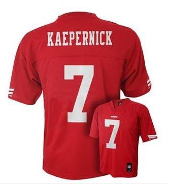 NFL Youth Boys 8-20 MID-TIER JERSEY -TMC KAEPERNICK 49ERS Crimson XL (18)