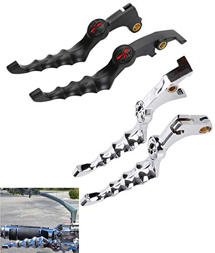 Modified Aluminum Skull Brake Clutch Lever Handle Fit For Honda Shadow F2 F4i (Chrome)