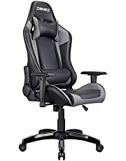ZENEZ Gaming Chair Racing Office High Back PC Computer Video Chair with Adjustable Armrest and Lumbar Support, Tilt Funtion
