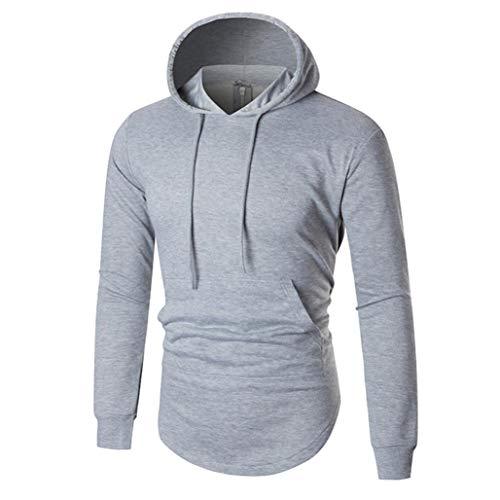 HYIRI Men's Autumn Winter Warm Casual Zipper Long Sleeve Hoodie Sweatshirt Top Blouse -