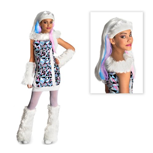 Monster High Abbey Bominable Child Costume with Wig - Large -
