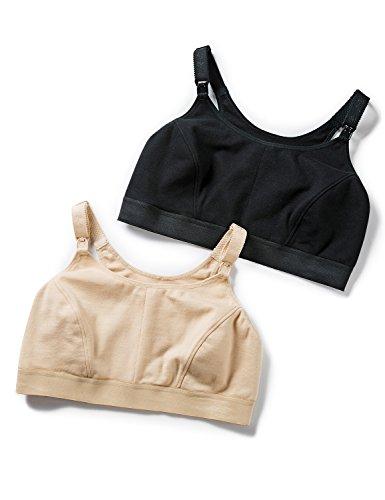 Gratlin Women's Full Support Comfort Plus Size Cotton Maternity Nursing Bra