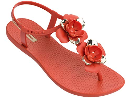Ipanema Floret Women's Sandals, Red/Gold (9 US)]()