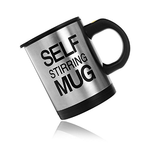 New Stainless Steel Lazy Self Stirring Auto Mixing Mug Coffee Tea Cup Office
