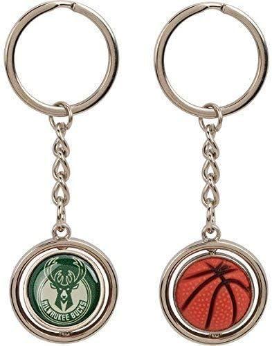Aminco Nba Milwaukee Bucks Gummi Basketball Spinning Schlüsselanhänger Bekleidung