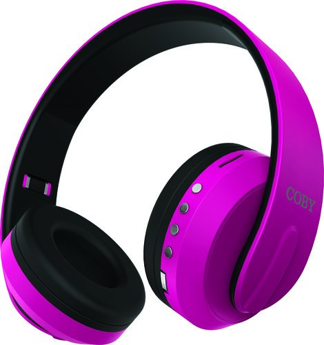 COBY Headphone,Bluetooth, Pink