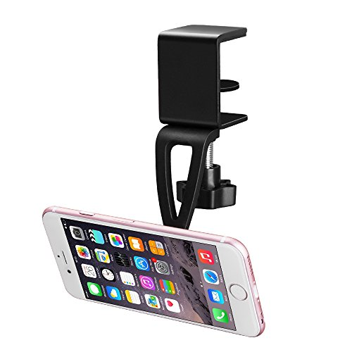Cell Phone Holder, BESTEK Magnetic Hands Free Cell Phone Holder Fits any IOS Android Smart-phone-Quick and Easy Installation-Apply to Cabinet, Desk, Table and Bookcase, Black