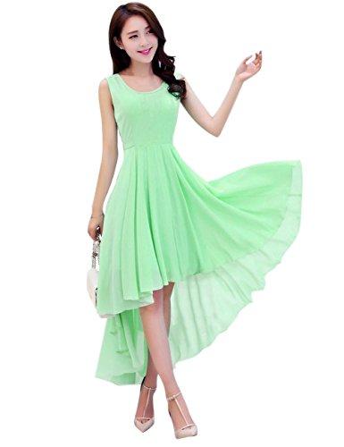Dasior Asymmetric A Party Dress Green High Line Holiday Summer Low Women's Mint Beach tqFWrzt