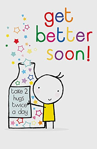 Amazon Get Better Soon 2 Hugs Twice A Day Well Humour