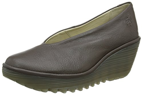 Fly London Damen Yaz - Zapatos de Cuña para Mujer, Color Marrón (Ground 203), Talla 40 EU