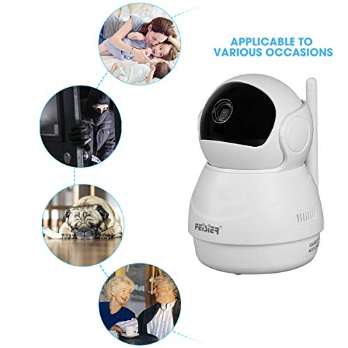 FEISIER Dome Camera 1080P WiFi Pet Camera,Wireless 2MP Home Security Surveillance Video Home/Indoor Camera with Pan and Tilt, Two Way Audio & Night Vision(Ball)