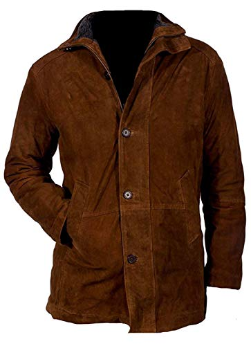 Longmire Walt Mysteries Robert Sheriff Brown Suede Leather Jacket