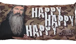"Duck Dynasty Body Pillow Uncle Si ""Happy Happy Happy"""