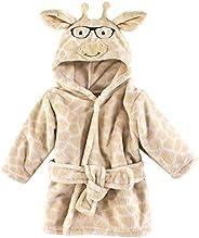 Hudson Baby Soft Plush Baby Bathrobe, Nerdy Giraffe, 0-9 Months