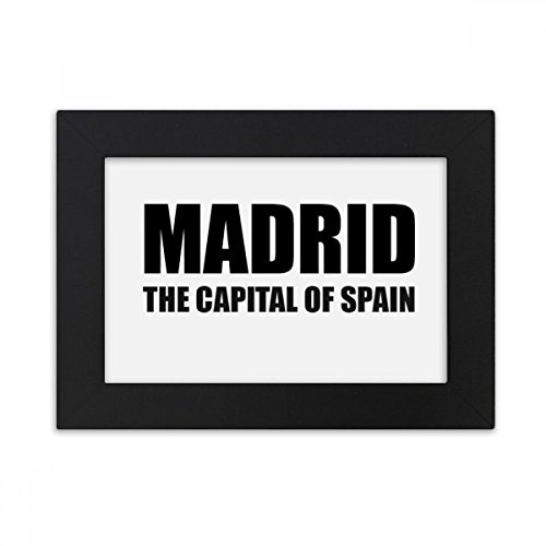DIYthinker Madrid The Capital Of Spain Desktop Photo Frame Black Picture Art Painting 5x7 inch by DIYthinker