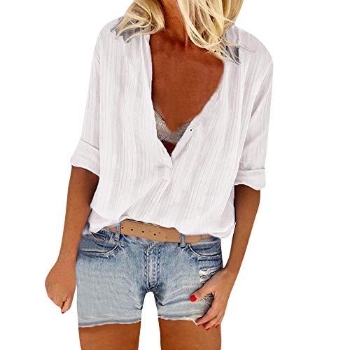 et Blouse Les 2018 Vetements Automne OVERMAL Tous Haut Slim Dcontracte en Longue Sexy Bureau T t Blanc 1 Tops Manches Jours Femmes Mode Vrac Shirt Sexy Fille Chic Chemise Y8qpFY