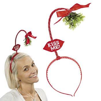 058bc8bdf0f96 Ardisle Christmas Xmas Novelty Mistletoe Head Bopper Headband Secret Santa  Gift Kiss Me  Amazon.co.uk  Toys   Games