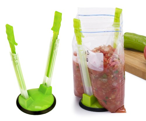 Jokari Hands-Free Baggy Rack Clip Food Storage Bag Holder, 2-Pack