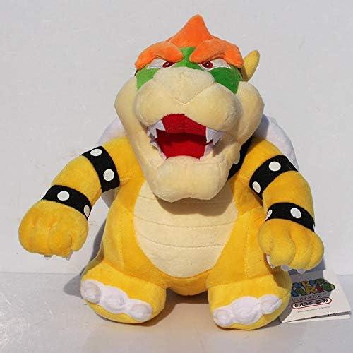 guraa 25Cm Stand Super Mario Bros Bowser Koopa Plüschtier Kuscheltierpuppen Spielzeug Tolles Geschenk