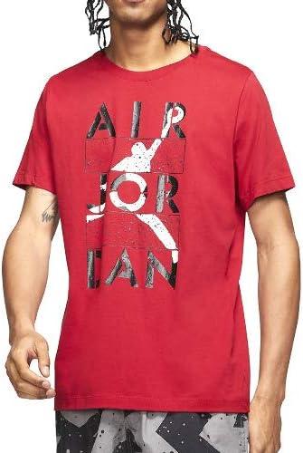 JORDAN/ジョーダン M J STENCIL SS CREW Tシャツ (レッド)
