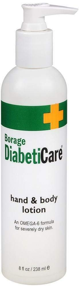 DiabetiCare Hand & Body Lotion By Shikai Borage - 8 Oz