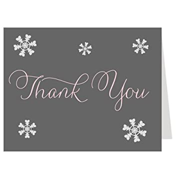 Amazon Com Snowflake Thank You Cards Winter Baby Shower Bridal