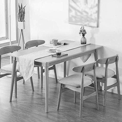 Yxsd Chaises de cuisine rétro à dossier bas avec cadre en bois massif pour salle à manger ou discuter de loisirs Marron foncé en éponge PU