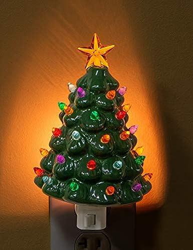 Christmas Tree Nightlight Shaped Holiday Soft Glowing Night Light Kid S Bedroom Bathroom Home Decor