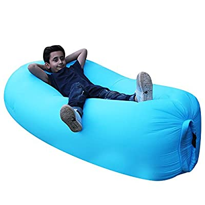 Inflatable Air Sleeping Bag Lounger Mattress Hangout Air Filled Sleeping Bed Portable Camping Beach Lounge Sofa Chair