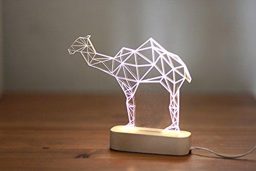 Modern concrete camel lamp, Geometric LED lamp ,concrete table lamp, animal night light, desert themed decorative lamp