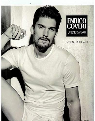 Enrico Coveri Maglietta Girocollo Intima Uomo 100/% Cotone Tshirt Uomo Manica Corta Confezione da 3 Pezzi Maglia Intima Uomo Ultraleggera Invisibile