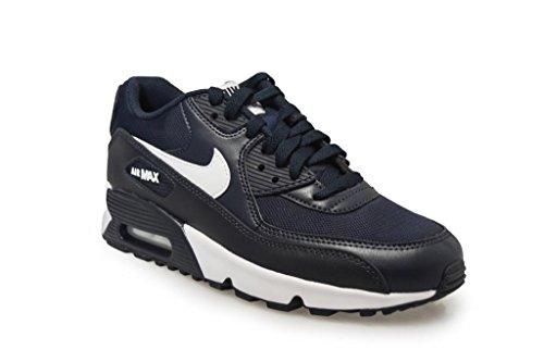 Nike Boys Air Max 90 Sneaker In Maglia Ossidiana Bianco Nero 403