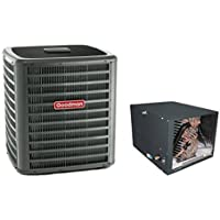 3.5 Ton Goodman 14 SEER R410A Air Conditioner Condenser with 24.5 Tall Horizontal Cased Evaporator Coil (Yes, please add a TXV to my order)
