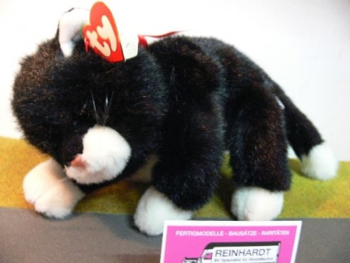 - TY Classic Beanie Buddy Plush Boots the Black and White Cat