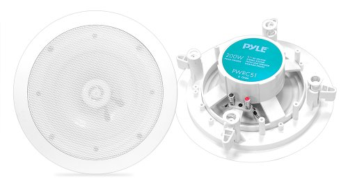 Pyle Home PWRC51 5.25-Inch Weather Proof 2-Way In-Ceiling /