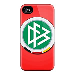 MniSquare Fashion Protective Germany Football Logo Case Cover For Iphone 4/4s
