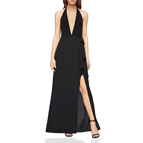BCBG Max Azria Womens Angeline Halter Evening Formal Dress Black 8